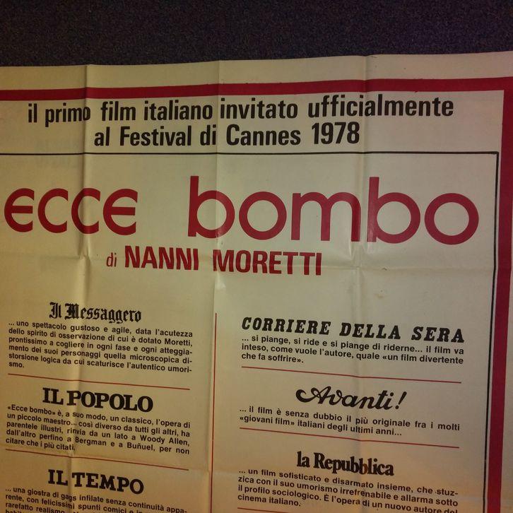 1978 Moretti Plakat Ecce Bombo Cannes VA für die Ital Schweiz Sammeln 3