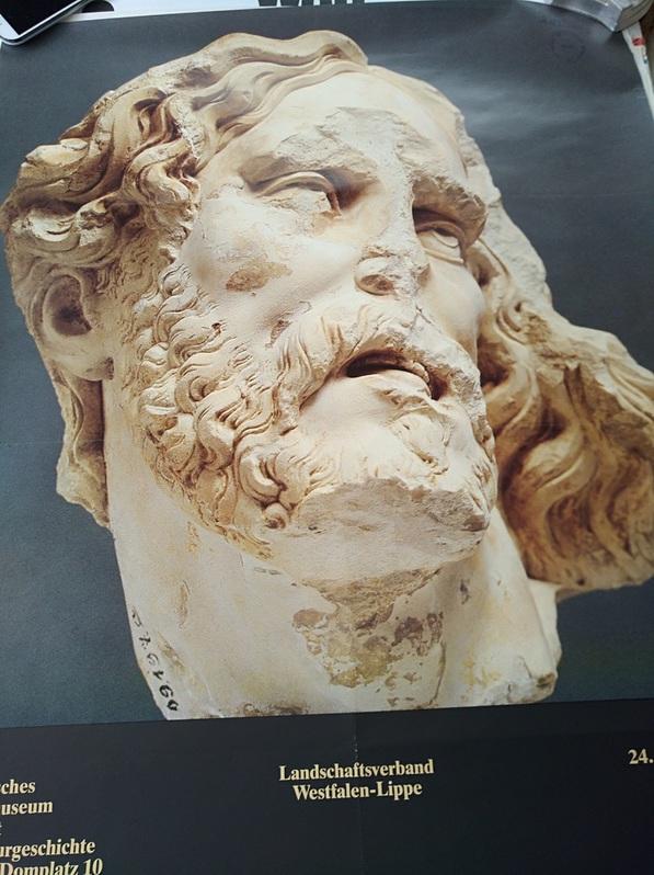 1979 Plakat Barock Skulptur Westfalen Ausstellung Antiquitaeten