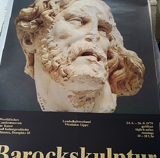 1979 Plakat Barock Skulptur Westfalen Ausstellung Antiquitaeten 2