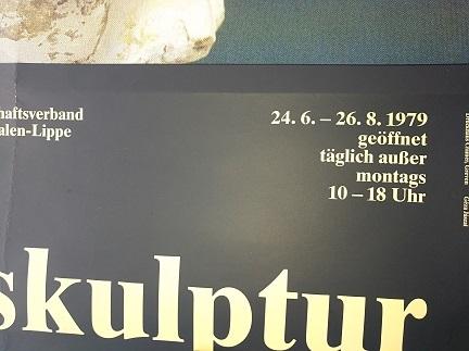 1979 Plakat Barock Skulptur Westfalen Ausstellung Antiquitaeten 3