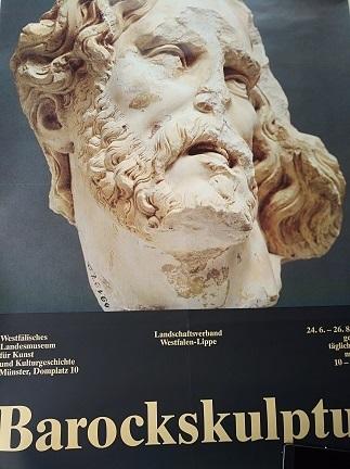 1979 Plakat Barock Skulptur Westfalen Ausstellung Antiquitaeten 4