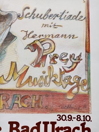 1986 Plakat   Dittrich    Schubert  Bad Urach Antiquitaeten 3