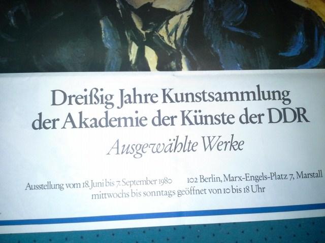 1980 Plakat Ludwig Meidner Porträt Becher  Antiquitaeten 2