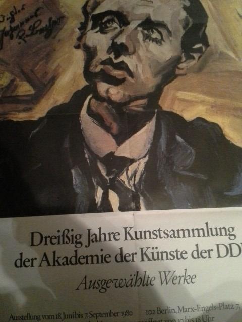 1980 Plakat Ludwig Meidner Porträt Becher  Antiquitaeten 4