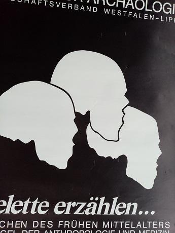 1983 Orginal Plakat  A1  Anthropolpogie Münster Sammeln