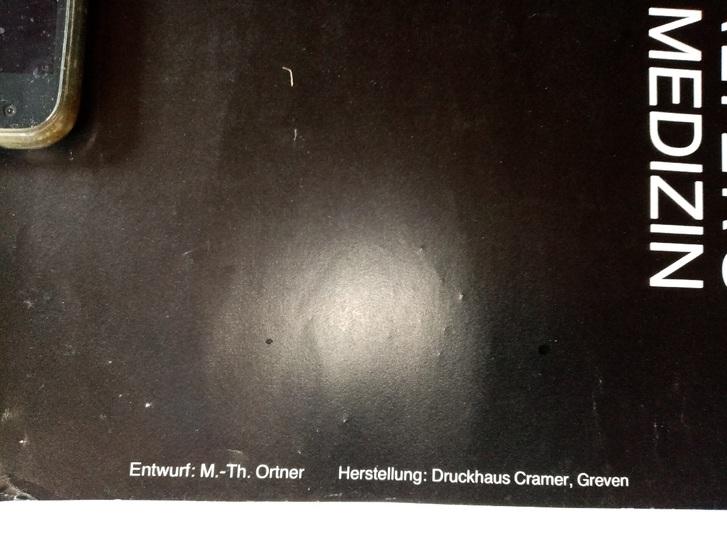 1983 Orginal Plakat  A1  Anthropolpogie Münster Sammeln 2