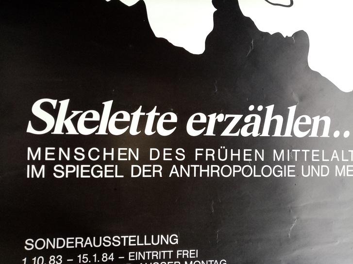 1983 Orginal Plakat  A1  Anthropolpogie Münster Sammeln 4