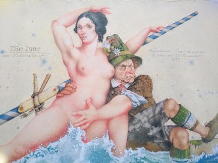1985 M M Prechtl Das Oktoberfest Nationalrausch Offset Plakat Sammeln 2