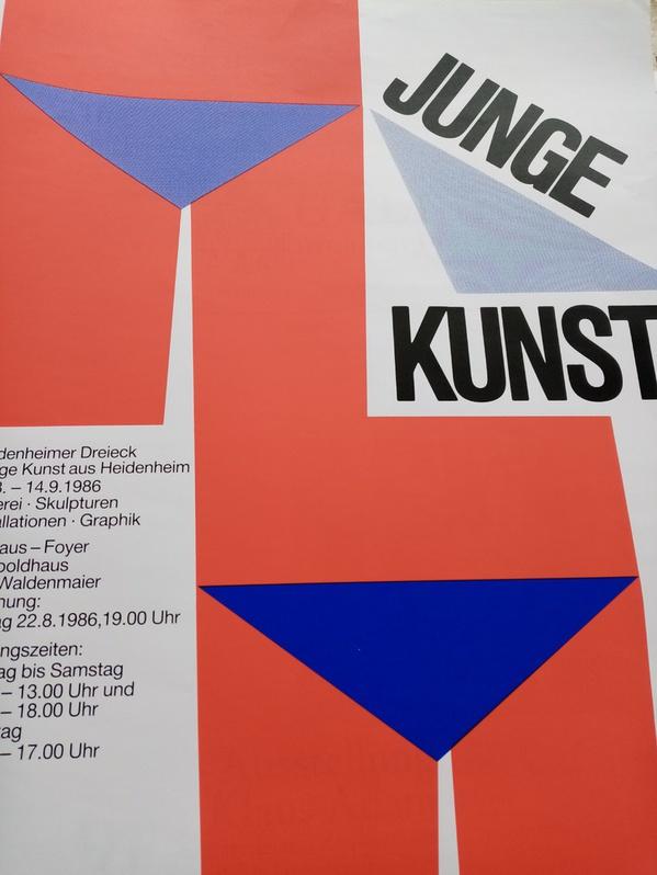 1986  Junge Kunst  Plakat 7920 Heidenheim Vonhoff Sammeln