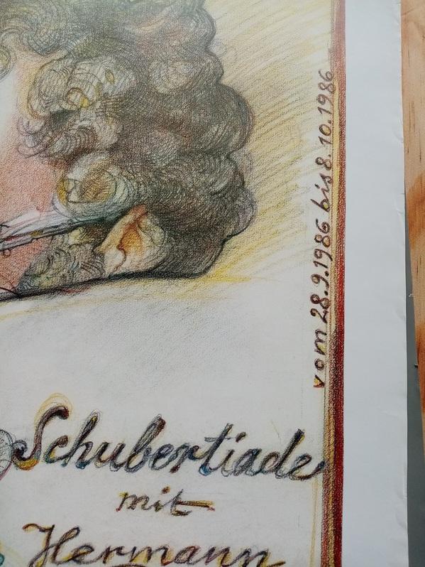 1986 Plakat   Dittrich    Schubert   Bad Urach Antiquitaeten 4