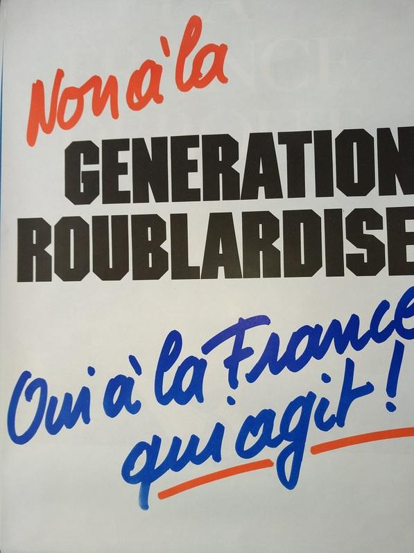 1988 Wahl Plakat La France Antiquitaeten