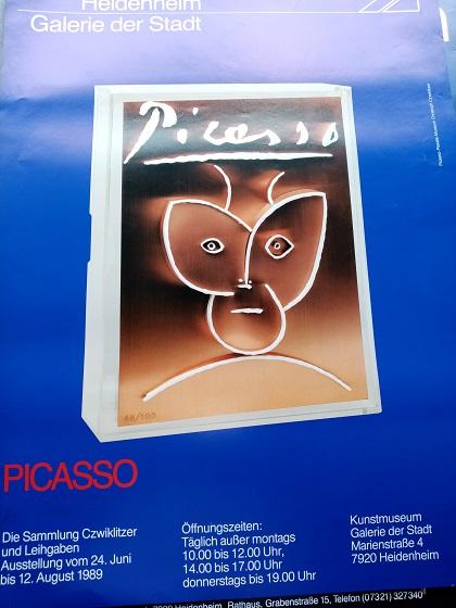 1989 Plakat  Picasso Heidenheim Design Schweiger Sammeln