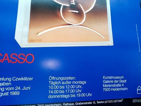 1989 Plakat  Picasso Heidenheim Design Schweiger Sammeln 3