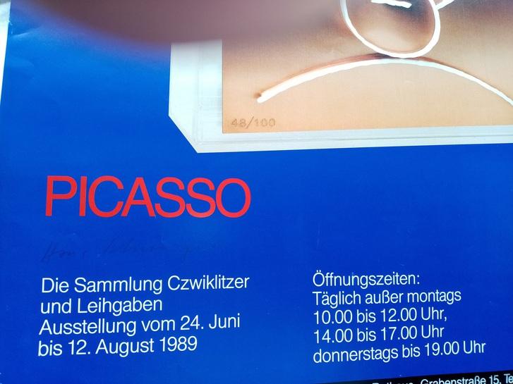 1989 Plakat  Picasso Heidenheim Design Schweiger Sammeln 4