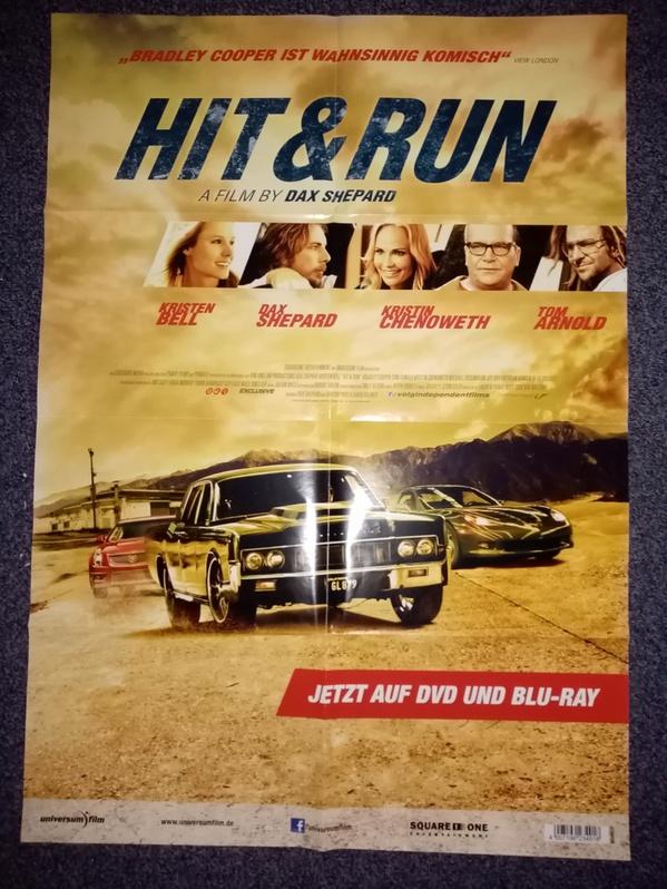 2012 Orginal  Film Plakat  A1  Hit and Run  Sammeln