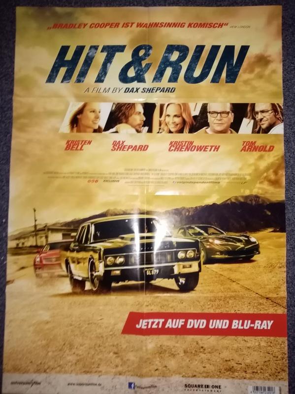 2012 Orginal  Film Plakat  A1  Hit and Run  Sammeln 2