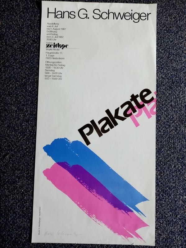 7920 Heidenheim Ausstellung Plakate  1987  Galerie  Zeitlupe Sammeln 2