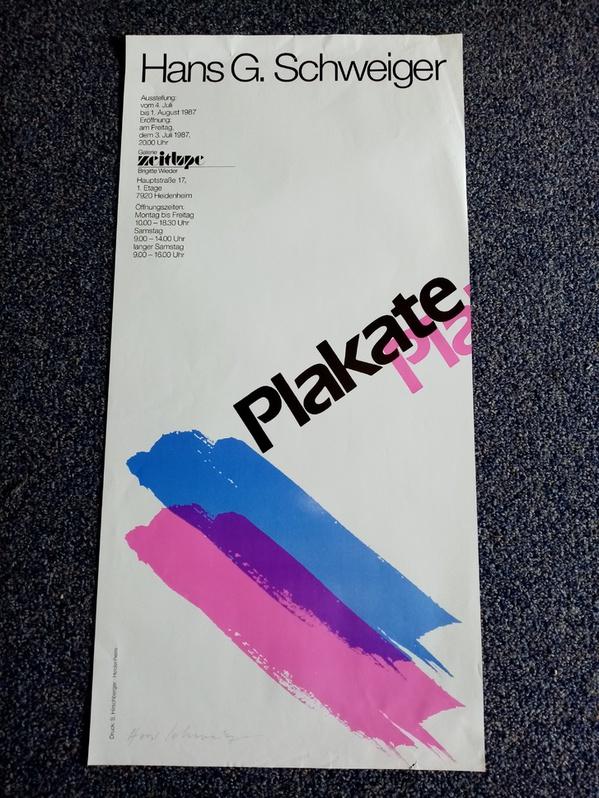 7920 Heidenheim Ausstellung Plakate  1987  Galerie  Zeitlupe Sammeln 3