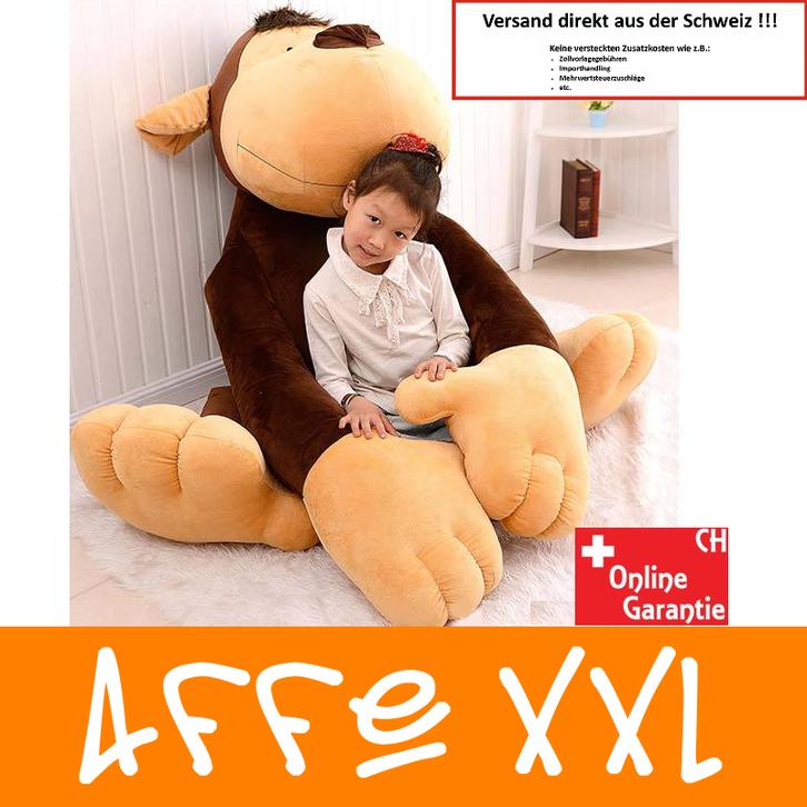 Affe Plüsch Monkey Plüschtier 1.5m XXL Geschenk Kind Kinder Frau Freundin XXXL Kuscheltier / Neu Spielzeuge & Basteln
