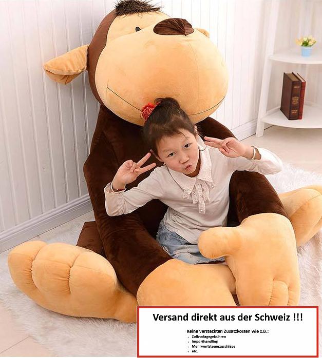 Affe Plüsch Monkey Plüschtier 1.5m XXL Geschenk Kind Kinder Frau Freundin XXXL Kuscheltier / Neu Spielzeuge & Basteln 2