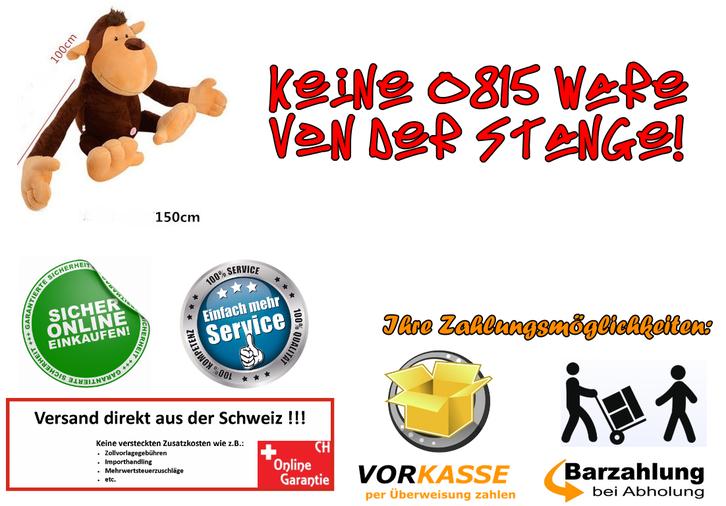 Affe Plüsch Monkey Plüschtier 1.5m XXL Geschenk Kind Kinder Frau Freundin XXXL Kuscheltier / Neu Spielzeuge & Basteln 3