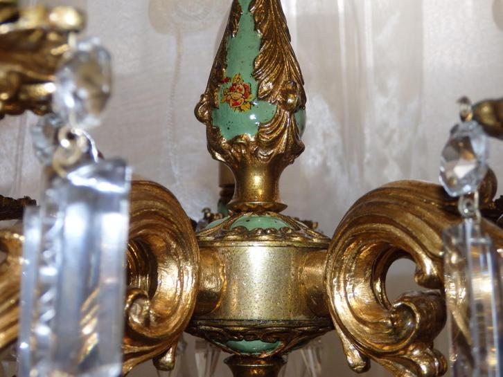 Antike Tischlampe - Bronze - Original Antiquitaeten 3