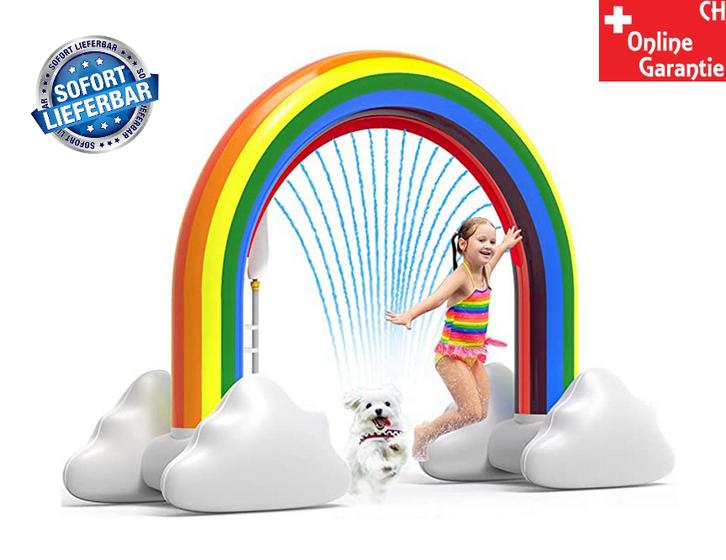 Aufblasbarer Regenbogen Wassersprinkler Spielzeug Wasser Sommer Garten Pool Wasserspielzeug Schweiz Garten & Handwerk