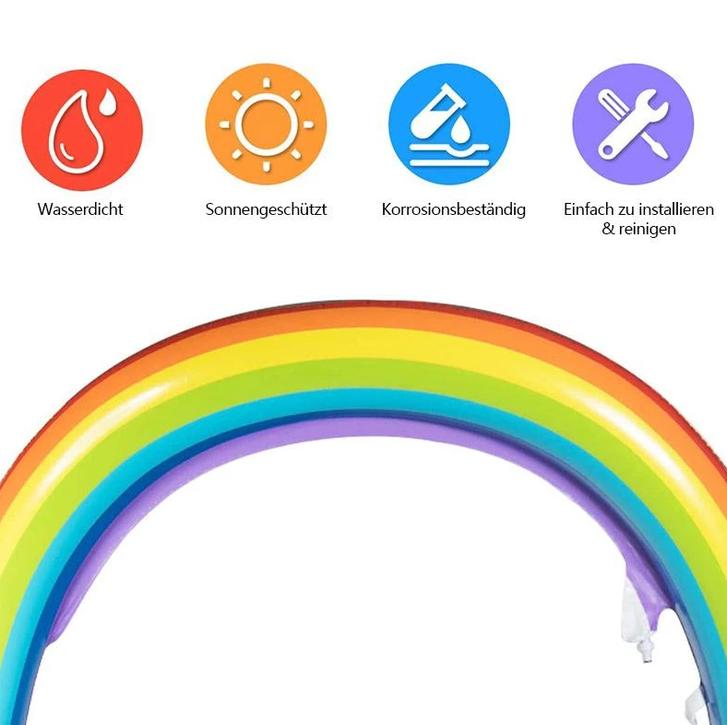 Aufblasbarer Regenbogen Wassersprinkler Spielzeug Wasser Sommer Garten Pool Wasserspielzeug Schweiz Garten & Handwerk 4