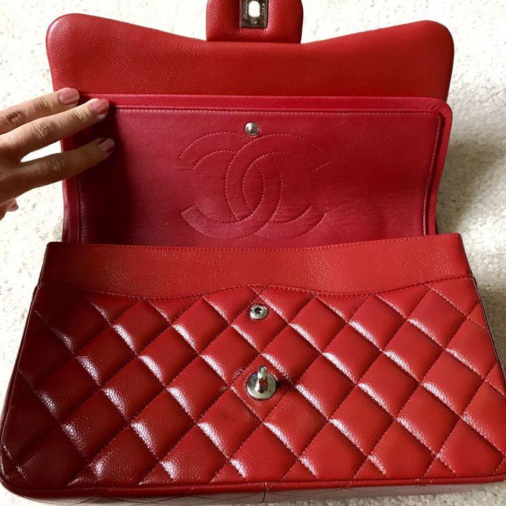 Authentic Chanel Double Flap Lipstick Red  Kleidung & Accessoires