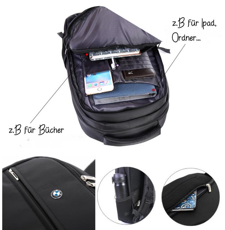 BMW Auto Rucksack Fan Schwarz Reisen Outdoor Geschenk Fanshop Kleidung & Accessoires 2