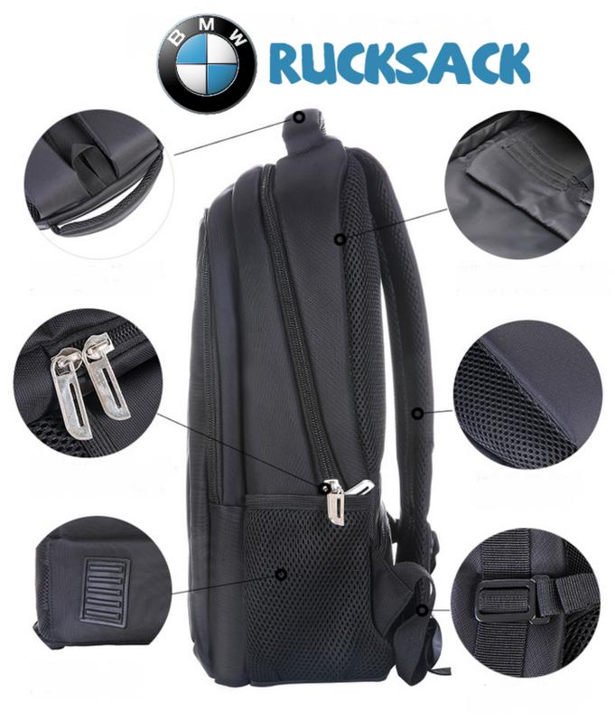 BMW Auto Rucksack Fan Schwarz Reisen Outdoor Geschenk Fanshop Kleidung & Accessoires 3
