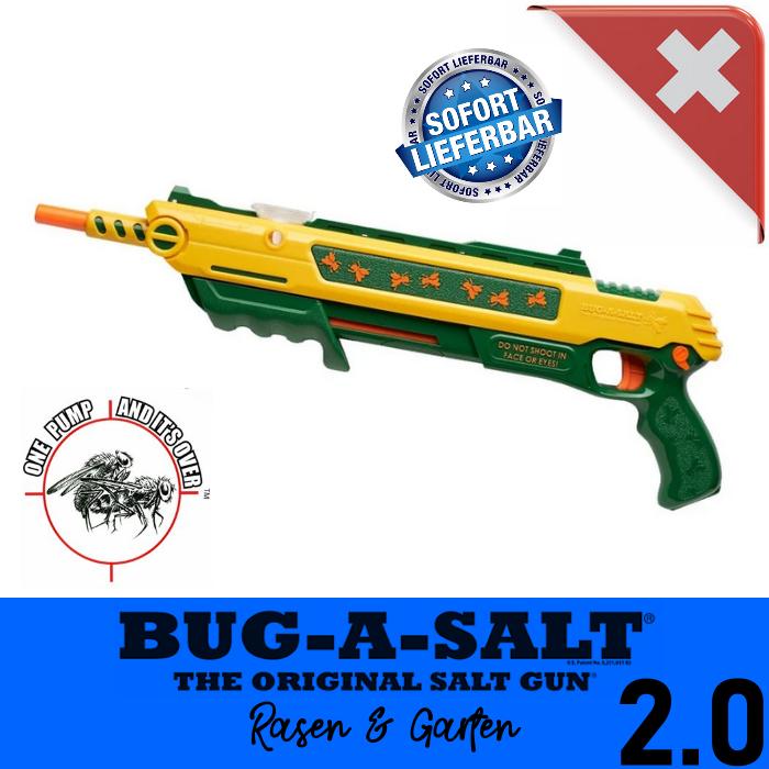 BUG-A-SALT 2.0 LAWN & GARDEN Salz Gewehr Fliegen Salzgewehr Salzpistole Flinte Insekten Gadget / Neu Schweiz Garten & Handwerk