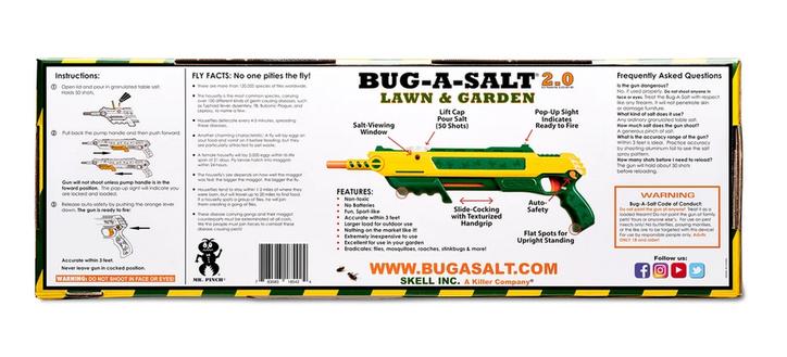 BUG-A-SALT 2.0 LAWN & GARDEN Salz Gewehr Fliegen Salzgewehr Salzpistole Flinte Insekten Gadget / Neu Schweiz Garten & Handwerk 3