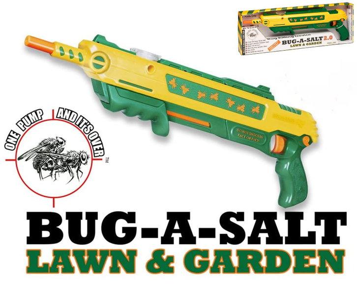 BUG-A-SALT 2.0 Rasen Garten Fliegengewehr Salz Gewehr Pistole Salzgewehr Flinte Insekten Schädlinge Sonstige