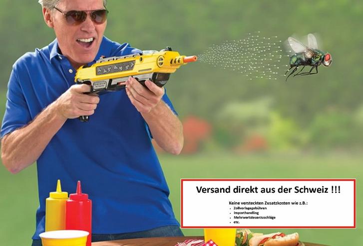 BUG-A-SALT 3.0 Anti Fliegen Gewehr Angriff auf die Insekten Pistole Fliegenklatsche Fliegengewehr Garten & Handwerk 2