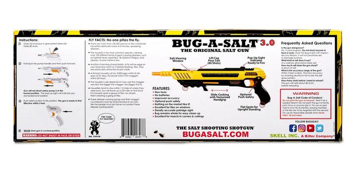 BUG-A-SALT 3.0 Anti Fliegen Gewehr Angriff auf die Insekten Pistole Fliegenklatsche Fliegengewehr Garten & Handwerk 4