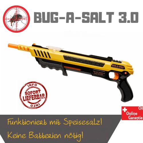 BUG-A-SALT 3.0 Anti Fliegen Gewehr Salz Gewehr Fliegengewehr Salzgewehr Flinte Pumpgun Sommer Fliegenklatsche USA Gadget Männer Spielzeug Haushalt