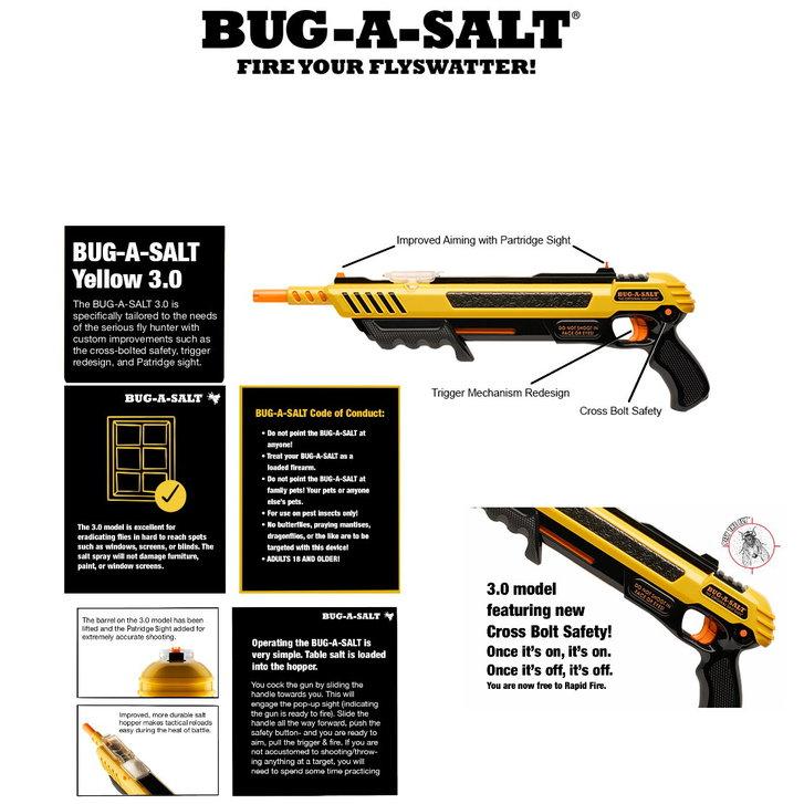 BUG-A-SALT 3.0 Anti Fliegen Gewehr Salz Gewehr Fliegengewehr Salzgewehr Flinte Pumpgun Sommer Fliegenklatsche USA Gadget Männer Spielzeug Haushalt 2