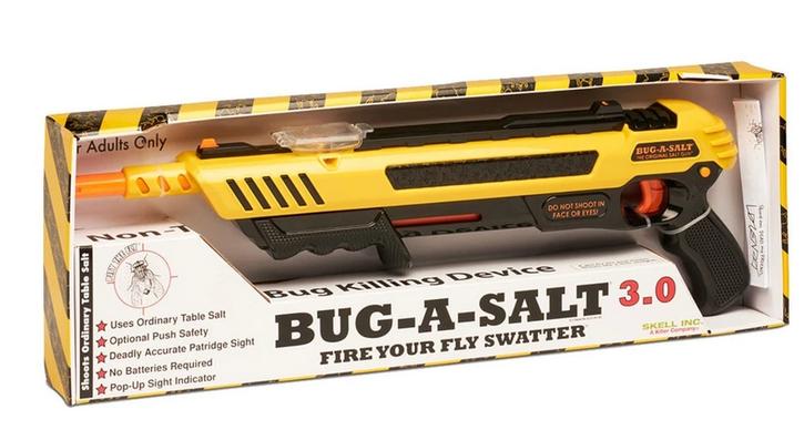 BUG-A-SALT 3.0 Anti Fliegen Gewehr Salz Gewehr Fliegengewehr Salzgewehr Flinte Pumpgun Sommer Fliegenklatsche USA Gadget Männer Spielzeug Haushalt 3