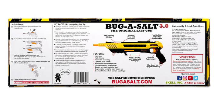 BUG-A-SALT 3.0 Anti Fliegen Gewehr Salz Gewehr Fliegengewehr Salzgewehr Flinte Pumpgun Sommer Fliegenklatsche USA Gadget Männer Spielzeug Haushalt 4