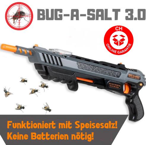 BUG-A-SALT 3.0 BLACK FLY EDITION Flinte Fliegen Jagd Fliegenkiller Salz Gewehr Schrotflinte Salzgewehr Luftdruckgewehr gegen Insekten Fliegenklatsche Gadget Haushalt