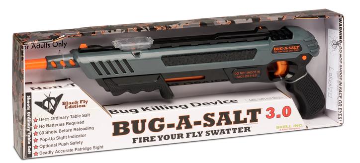 BUG-A-SALT 3.0 BLACK FLY EDITION Flinte Fliegen Jagd Fliegenkiller Salz Gewehr Schrotflinte Salzgewehr Luftdruckgewehr gegen Insekten Fliegenklatsche Gadget Haushalt 3