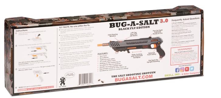 BUG-A-SALT 3.0 BLACK FLY EDITION Flinte Fliegen Jagd Fliegenkiller Salz Gewehr Schrotflinte Salzgewehr Luftdruckgewehr gegen Insekten Fliegenklatsche Gadget Haushalt 4