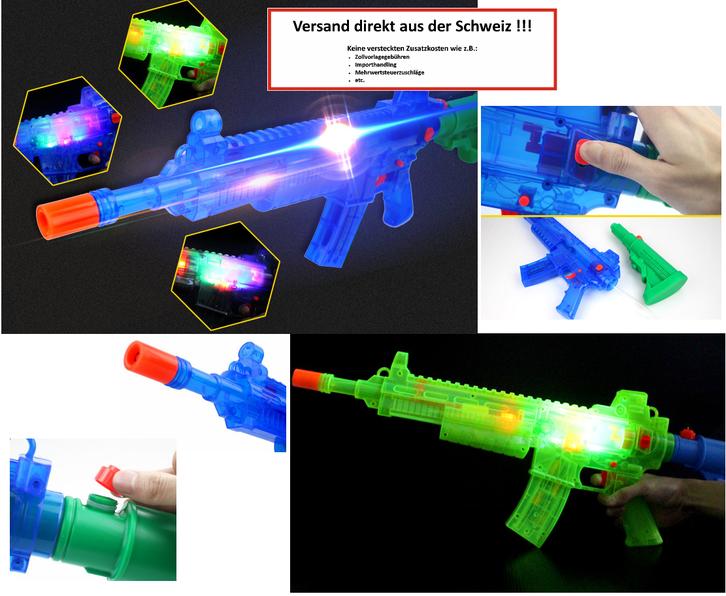 Batteriebetriebene Wasser-Spritzpistole LED-Lichteffekt Sound Wassergewehr Wasserpistole Sommer Spielzeug Kind Kinder Sport & Outdoor 3