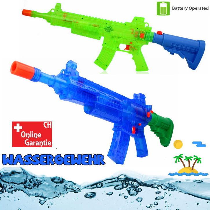 Batteriebetriebene Wasserpistole Wassergewehr Wasser Pistole Gewehr Spielzeug LED und Soundeffekte Sommer Kind Kinder Erwachsene Festival Schwimmbad Spass Baby & Kind