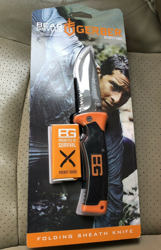Bear Grylls Grylls Folding Sheath Knife Einhandmesser Klappmesser Klapp Messer Sport & Outdoor 2
