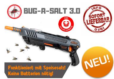 Bug-A-Salt 3.0 Salz Gewehr Pistole gegen Fliegen Mücken Sommer Salzgewehr Fliegenklatsche / Neu  Haushalt