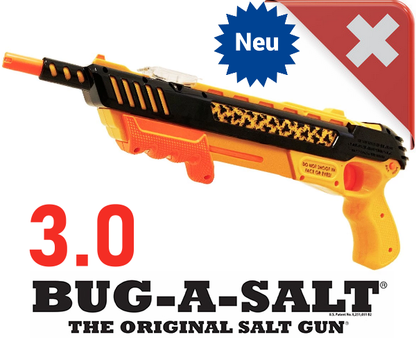 Bug-A-Salt Orange Crush 3.0 Bug a Salt Flinte Fliegen Jagd Fliegenkiller Salz Gewehr Schrotflinte Salzgewehr Luftdruckgewehr gegen Insekten Fliegenklatsche Sport & Outdoor