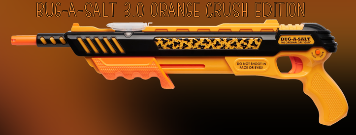 Bug-A-Salt Orange Crush 3.0 Bug a Salt Flinte Fliegen Jagd Fliegenkiller Salz Gewehr Schrotflinte Salzgewehr Luftdruckgewehr gegen Insekten Fliegenklatsche Sport & Outdoor 2