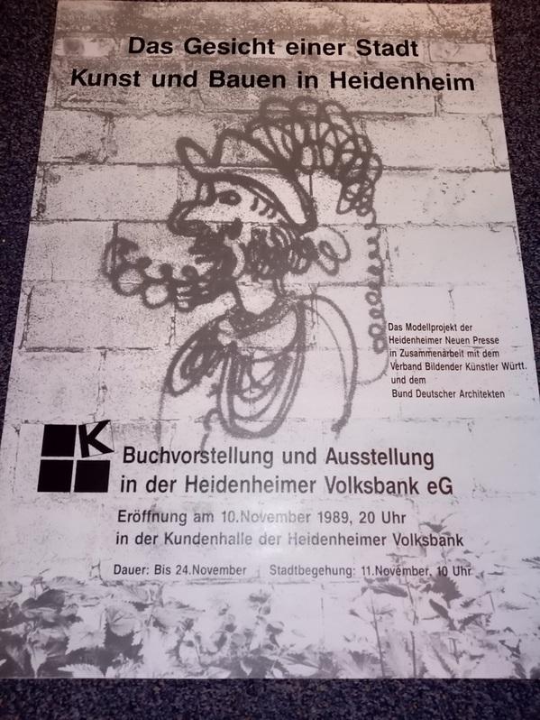 Bund Deutscher Architektinnen und Architekten Plakat  1989 Sammeln